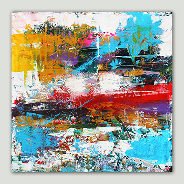 A unique & original abstract painting with textured detail using high-quality acrylic colours on deep-edge gallery quality canvas!